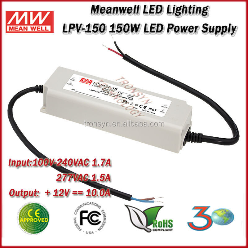 Meanwell LED Driver LPV 150 12 150W meanwell led driver lpv 150 12 150w single output meanwell 12v  at gsmportal.co