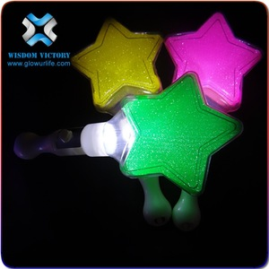 2019 super bright led light star glow stick , led star stick LED light up cheering sticks for fans