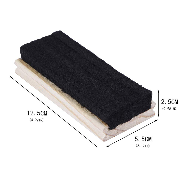 Custom wood frame eco-friendly felt blackboard eraser for school students