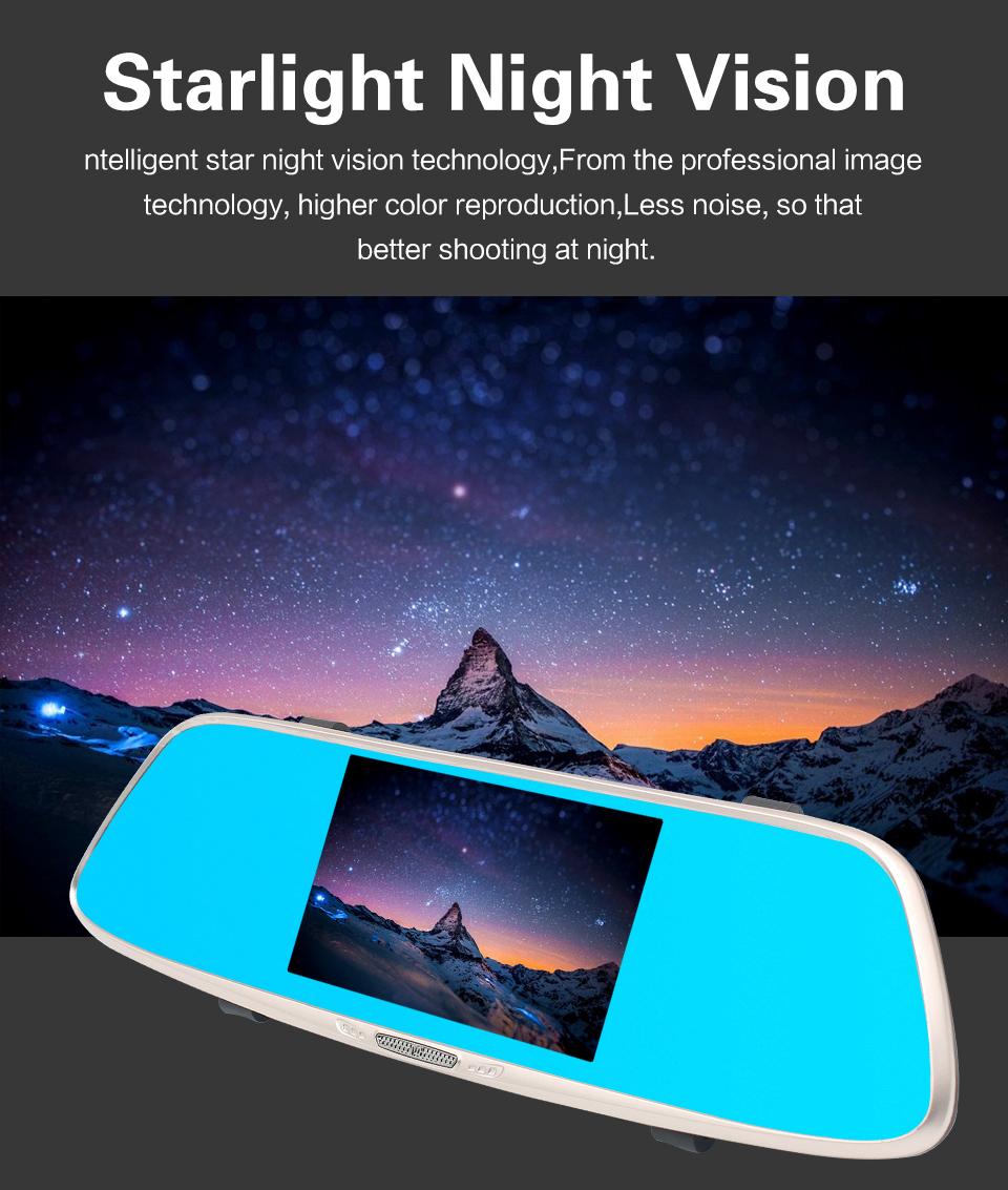 โรงงานโดยตรง FHD 1080 P Night View Dash Cam 5.0 นิ้วหน้าจอ LCD เซ็นเซอร์ G 170 องศา DVR
