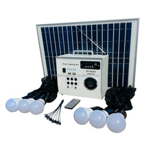 30W Mini Solar system for home lighting include solar panel LED bulbs