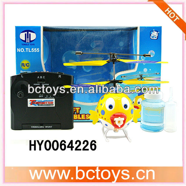 3.5ch blow bubble helicopter remote control flying fish with gyro HY0064226