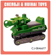 Military shooting vehical plastic kids ride on tank