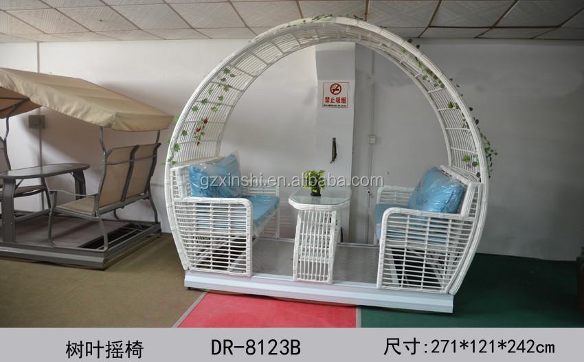 Outdoor Patio Furniture White Pe Waterproof Home Garden Seesaw 4 ...