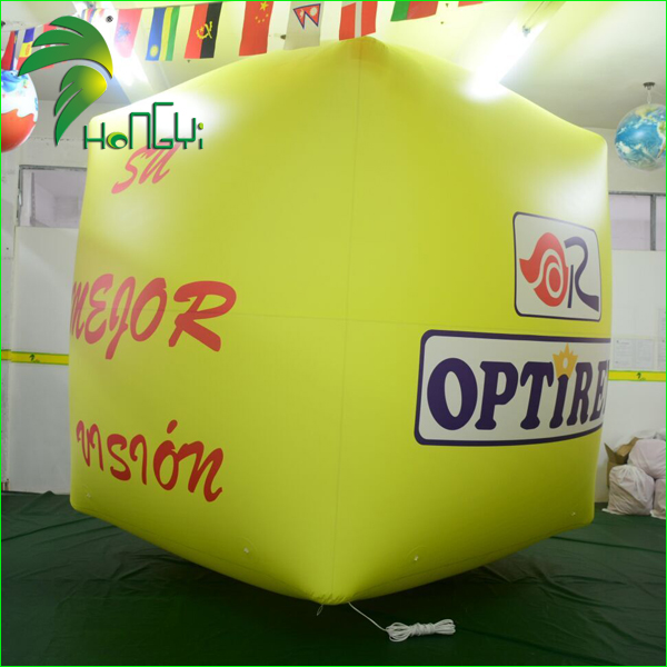 Custom Logo Inflatable Cube Balloon , Square Helium Balloon for Advertising