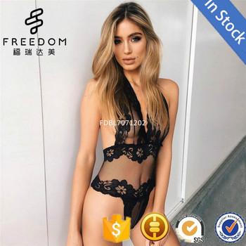 Sexy hot wholesale and customize one piece lace bodysuit women underwear lingerie  set 6a90e39ca23a