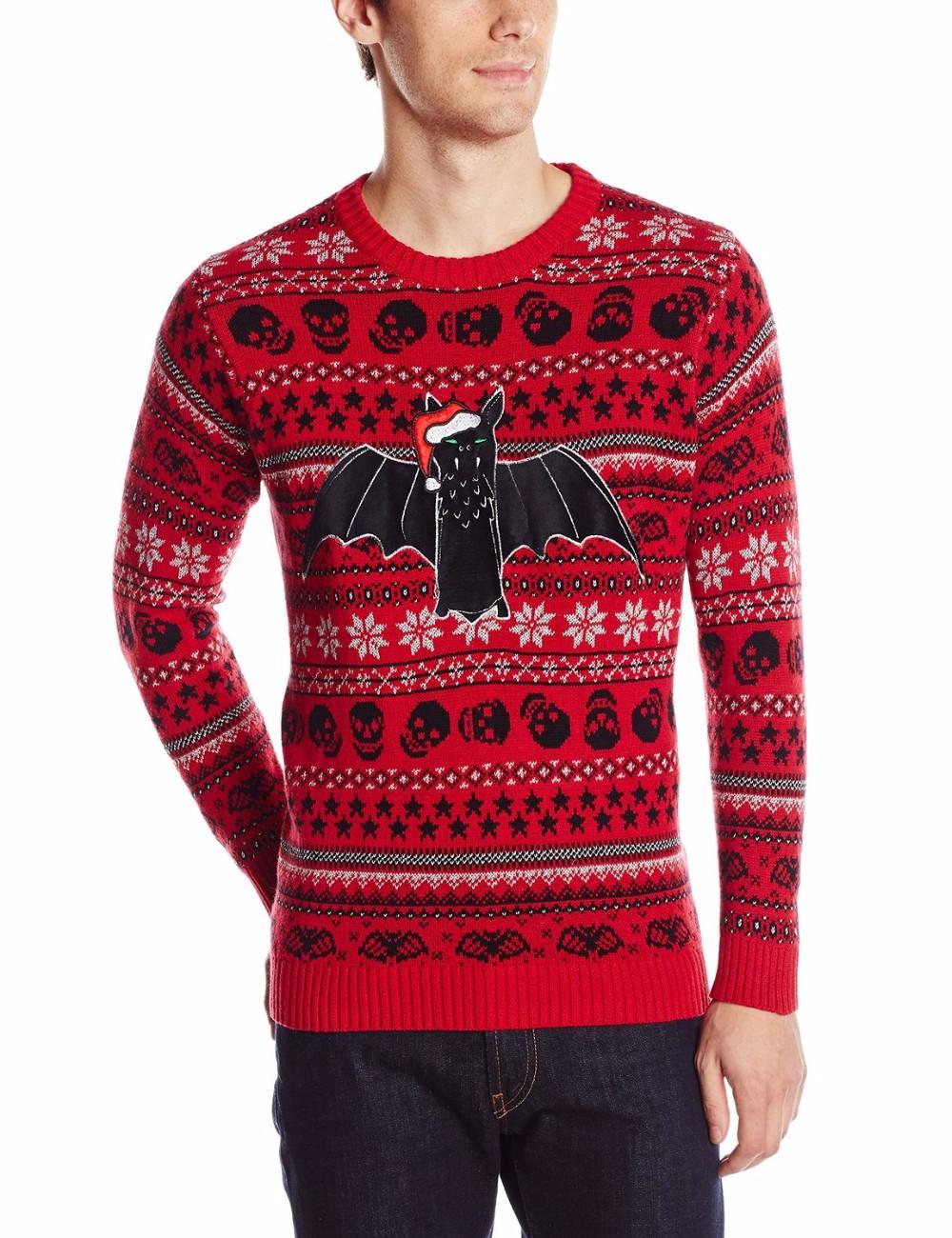 Men Red Sweater Black Bat Pattern Toddler Christmas Boutique ...