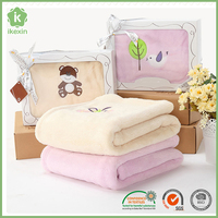 Christmas Gift Soft Terry Cloth Baby Blanket In China