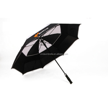 double layers fabric high quality rain umbrella vent golf umbrella