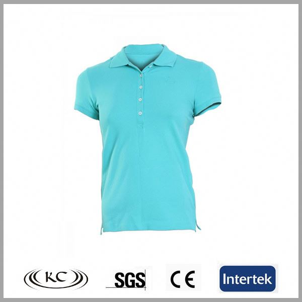 riding women blue 3 color polo shirt