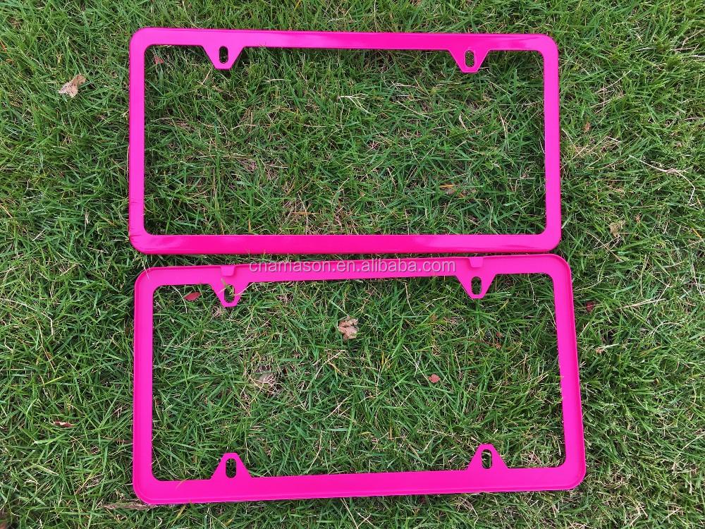 Rosa Pulverbeschichtung Nummernschild Rahmen Farbe Beschichtung ...