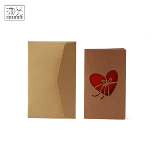 Custom Printing Different Shapes Laser Cut Heart Shape Handmade Greeting Cards