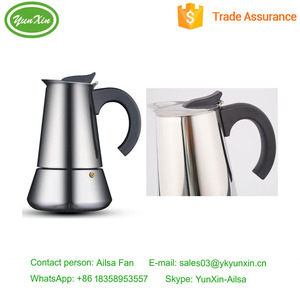 BPA free Stainless Steel 4-cup Classic Stove Top Espresso French/Italian Filter Coffee Maker