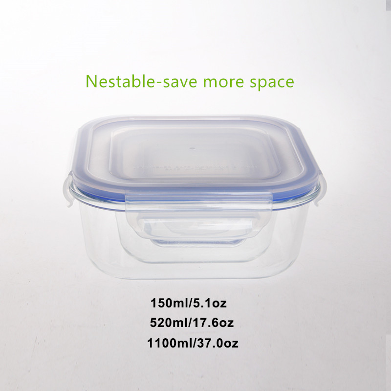 Classic takeaway glass food container