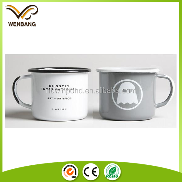 Enamel coated china made tableware tin metal beer cups