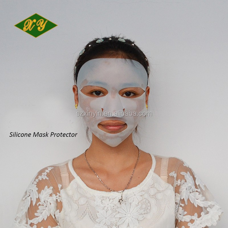 2016 new product smart white silicone facial mask protector