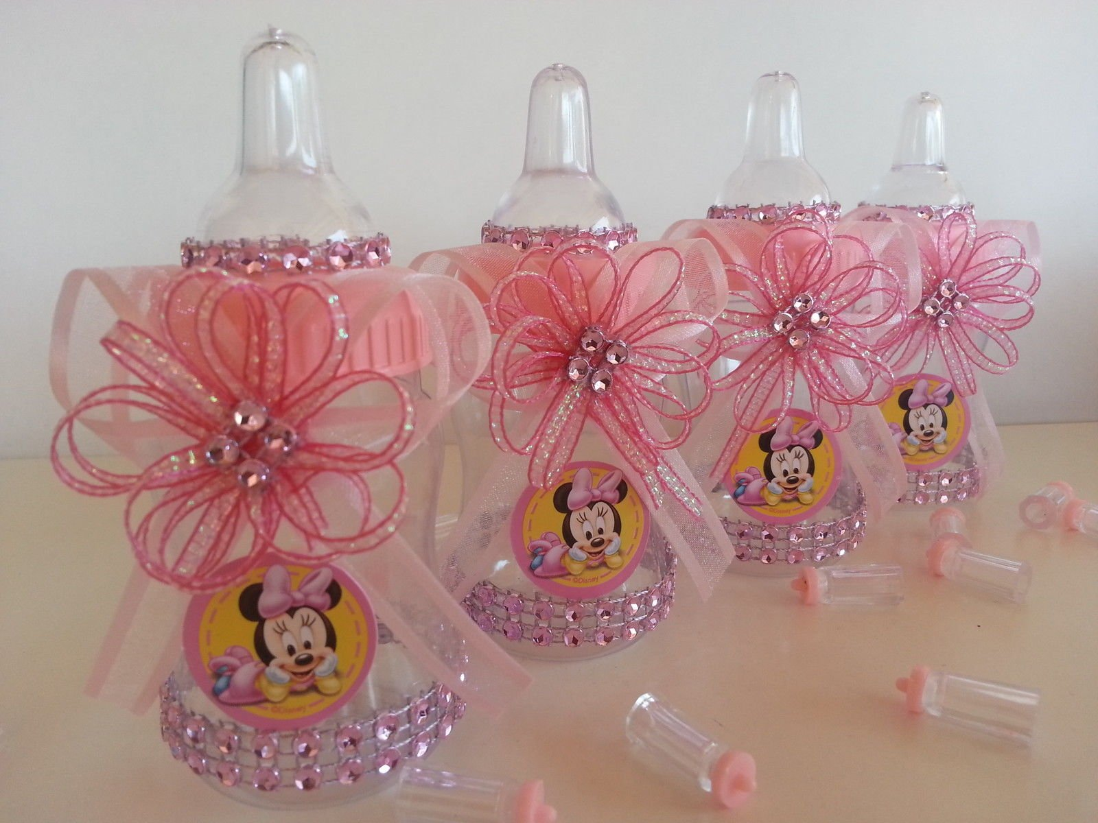 Buy 12 Minnie Mouse Pink Fillable Bottles Baby Shower Favors Prizes