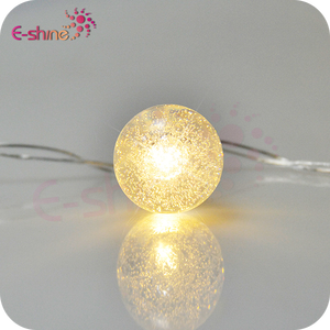 Led Outdoor String Lights 2M 20Leds Crystal Ball Fairy Strip Lights For Outside Garden Patio