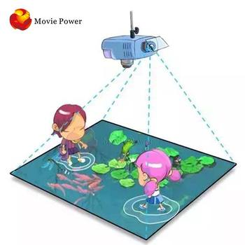 3D interactive floor projection system kid games interactive floor projection system