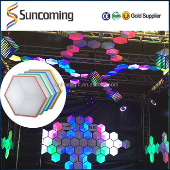Unique designed 3d honeycomb led panel light display for - Decoration boite de nuit ...
