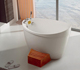 Small bathtub sizes freestanding seamless acrylic bath, oval small bathtub with seat, Japanese bathtub