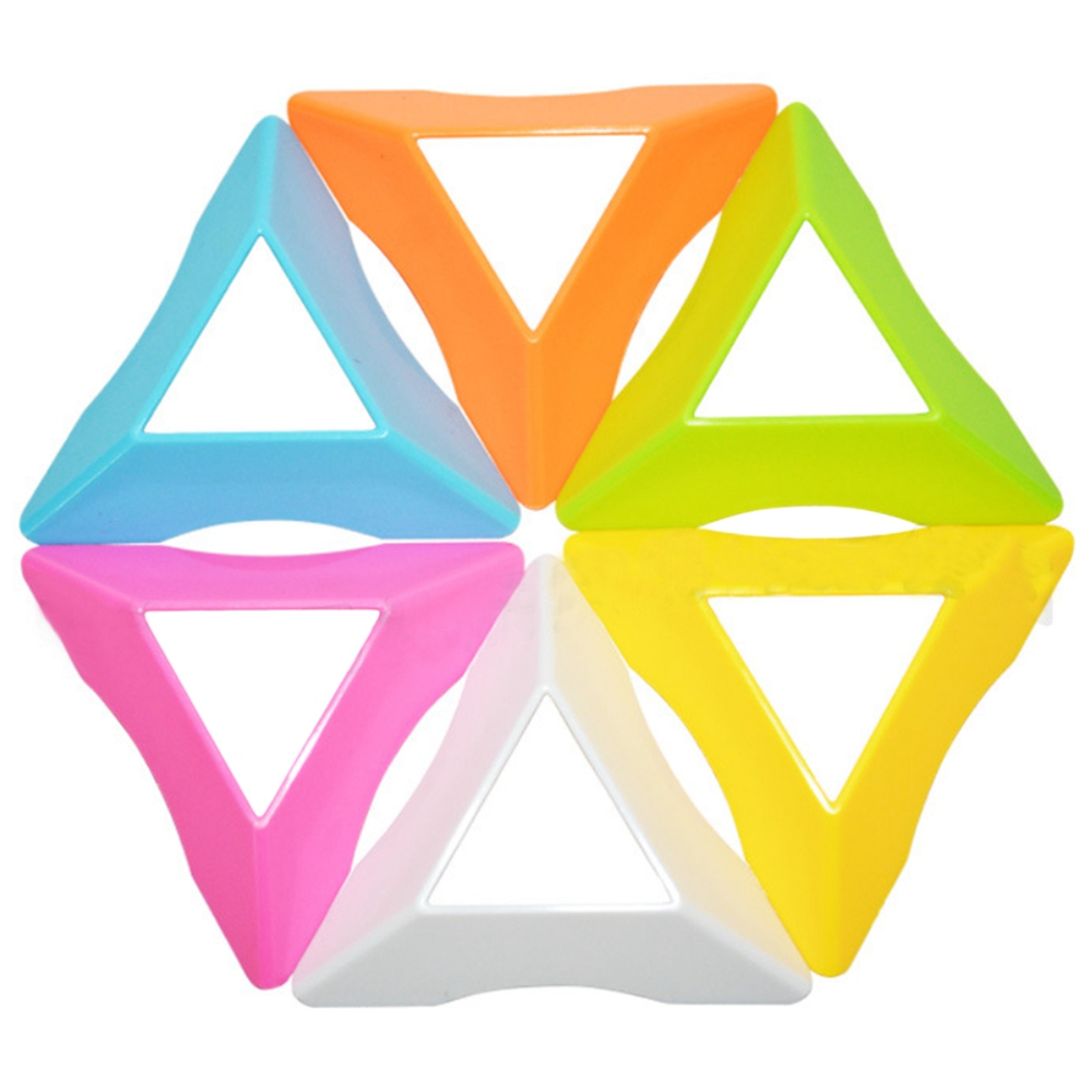 Candy Color Speed Magic Cube Base Holder Cube Stand Toys For Kids Random Color
