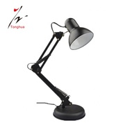 Modern Flexible Desk Lamps Iron Study/Computer Lights Reading Light Long Swing Arm Black/White/Red LED Home Decor Table Lamp