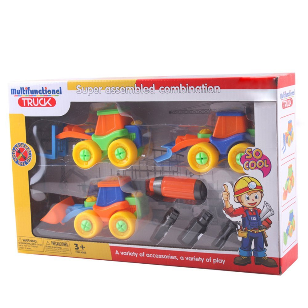 Set of 3 Take A Part Toy Kids Child Disassembly Car Toy Gift Construction Puzzle Toy for Children Early Education Toy Best Gift for Kids