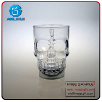 High Quality Party Skull cool Cup For Party / custom led flashing cup / pub using skull water control led flashing cups