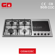Convenient 5 burner steel panel gas cooker burner cover/ new style gas hob with ceramic hotplate