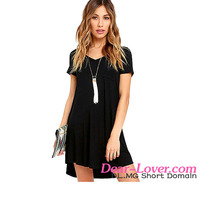 Wholesale Casual Trendy Sweetheart Neck Pocket Shirt Summer Dresses Women