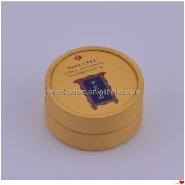 custom exquisite round shaped red color packaging box for jewelry, luxury box