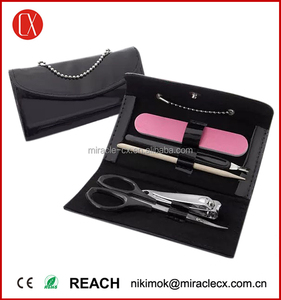 5pcs set manicure girls bag with chain design mini manicure set