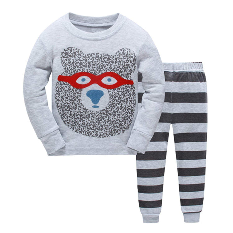 5a7c14be7f Get Quotations · Kateirmaso New Kids Pajamas Set Boys Animal Picture Pyjamas  Girls Cotton Cute Sleepwear Sets Children Nightwear