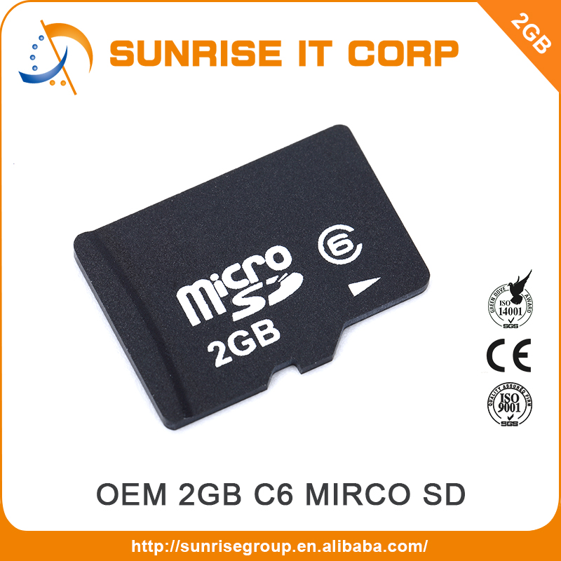 100% Full Capacity cheap mobile phone tf 2bg memory sd card