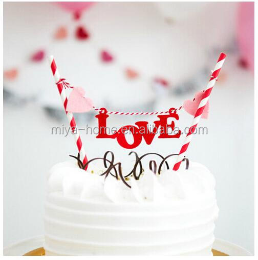 Best selling Happy Birthday Cake Picks Decoration / Dessert small flag for party