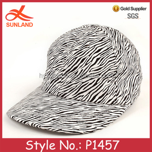 P1457 unique custom comfortable cotton fitted flat brim baseball cap hard hat