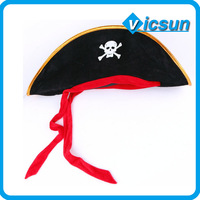 Pirates of the Caribbean red ribbon skull pirate hat
