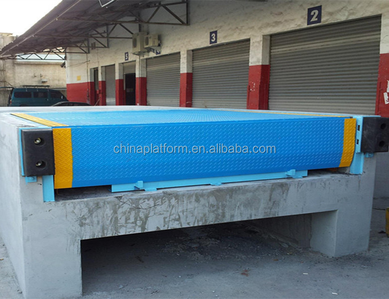 Hydraulic tailgate lift for truck container loading ramp
