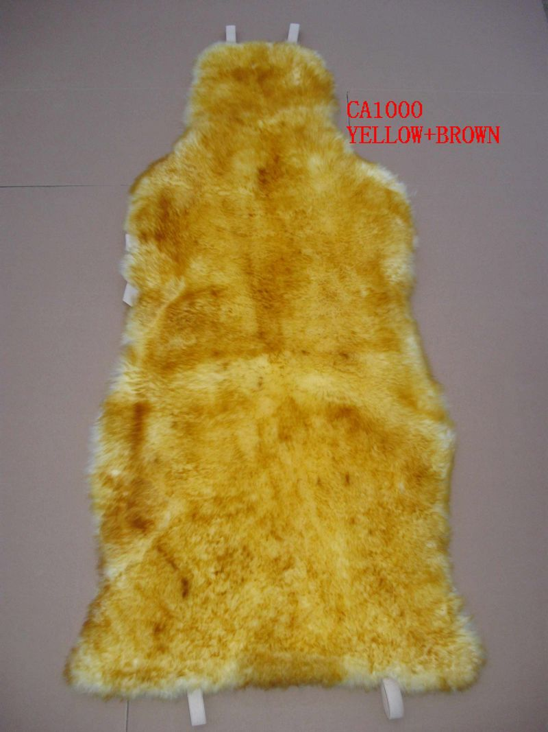 Genuine Fur Plush Breathable Long Wool Seat Cushion Cover Universal Fits Most Car, Truck, SUV Seats white