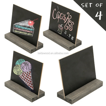 Mini Tisch Tafel Schilder Mit Vintage Style Holzsockel Steht Buy Desktop Visitenkartenhalter Holz Menühalter Mdf Schwarze Tafel Display Product On