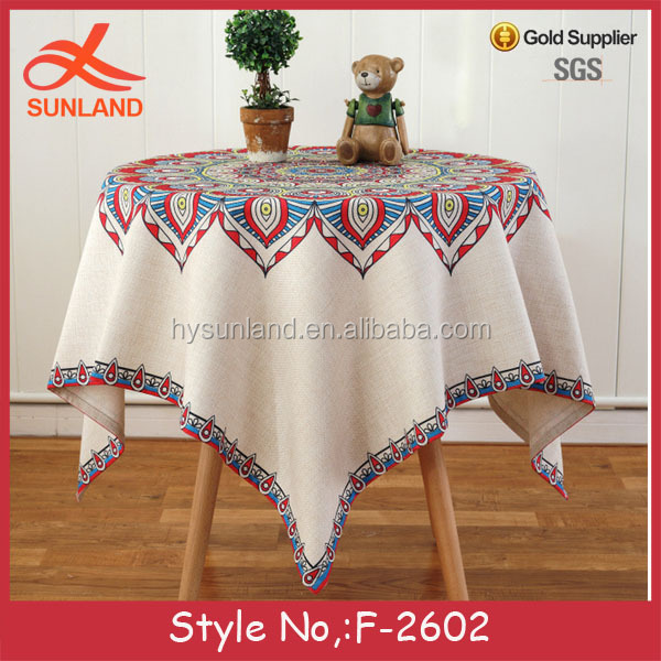 F-2602 restaurant bar custom linen tablecloth white jacquard rubber table cloth