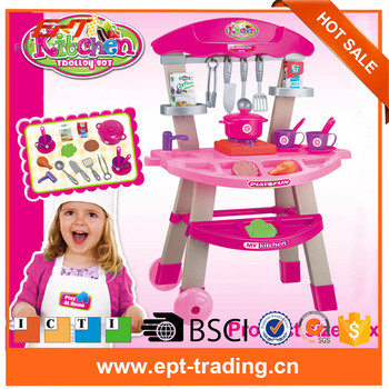 Pretend Play Kitchen Set Toys Cooking Game Girls Buy Kitchen Toy