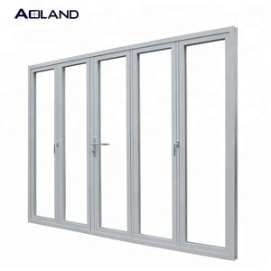 Thermal break bi fold door glass front door designs prices