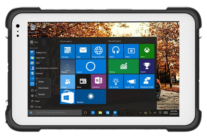 Highton Intel Cherry Trail Z8300 Windows 10 Or Android 5.1 Dual OS 4Gram DDR+ 64G EMMC Rugged Windows 8 Inch Tablet 4G