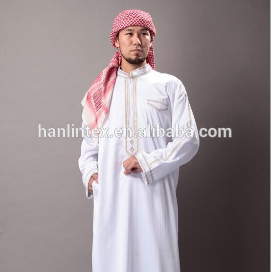 sale Men Saudi Style Islamic Clothing Designs From Dubai Soft Thobe Fabric Men Robe Caftan