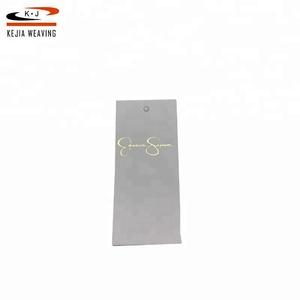 Wholesale different types custom logo name garment hang paper tag