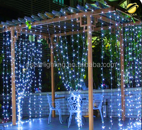 christmas waterfall led curtain light party wedding led string lights led icicle curtain light
