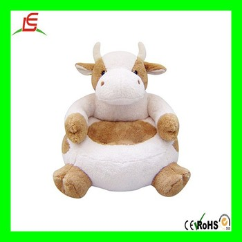LE N898 Cozy Stuffed Plush Animal Chair Plush Cow Toys For Kids