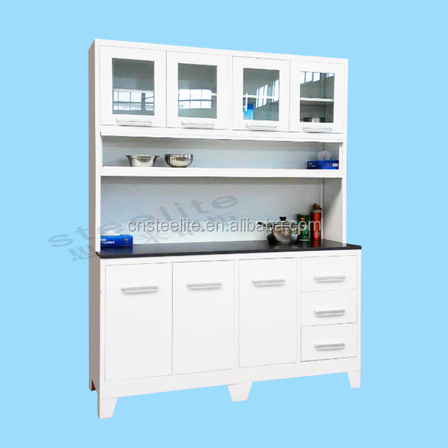 Knockdown Kitchen Cabinets: Knock Down Structure Open Shelf Kitchen Cabinets / White